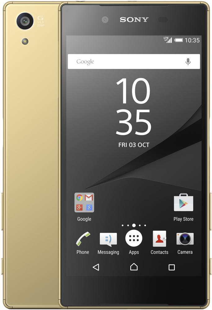 Автотехника Аксессуары Смартфоны Sony: Смартфон Sony Xperia Z5 Dual Gold