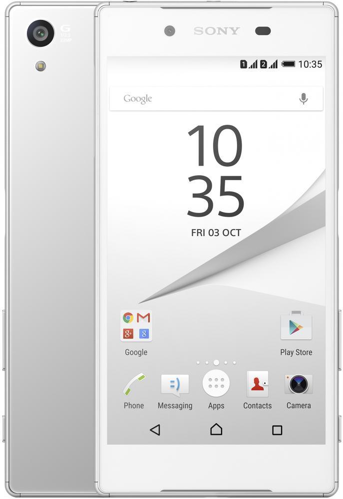 Автотехника Аксессуары Смартфоны Sony: Смартфон Sony Xperia Z5 Dual White